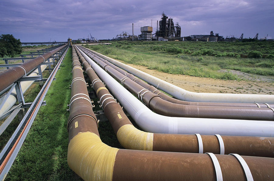 Pipe Line Photograph - Cooling Pipes by David Nunuk