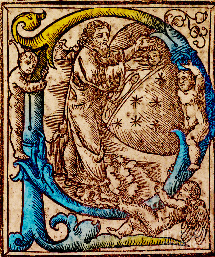 Science Photograph - Creation, Giunta Pontificale, 1520 by Science Source