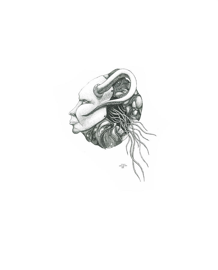 Creepy Curiosity IIi Drawing by Jeff Gould