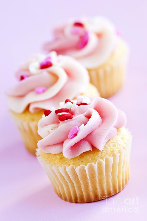 Row Photograph - Cupcakes by Elena Elisseeva