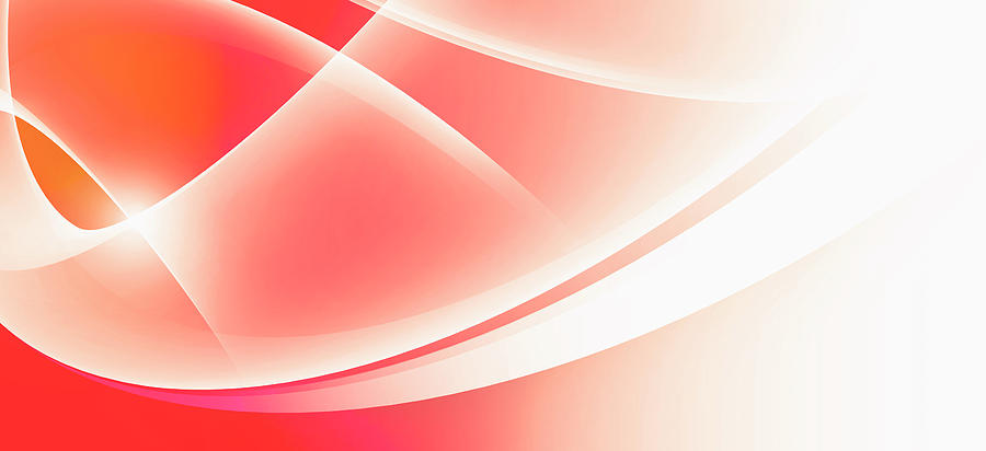 Horizontal Digital Art - Curved Intersecting Lines by Ralf Hiemisch