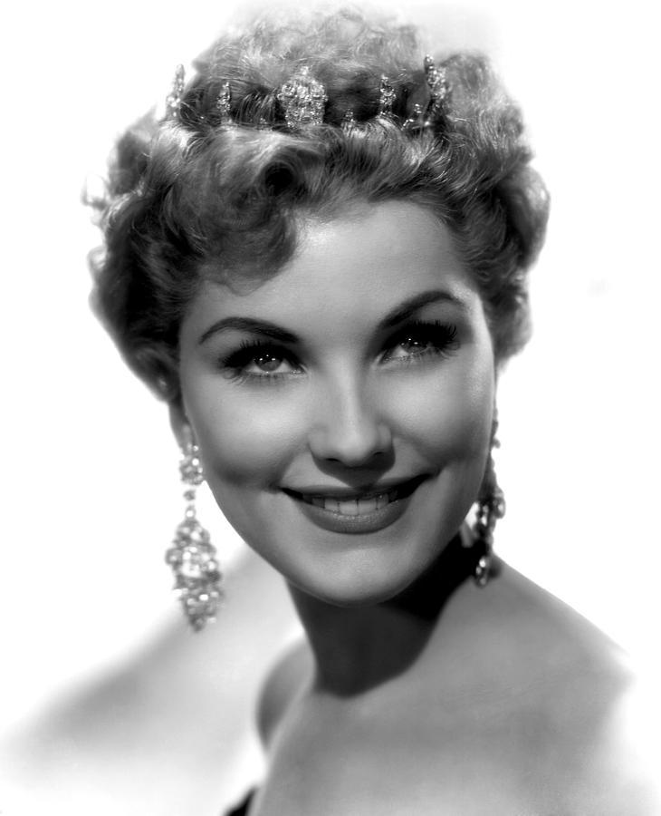 Dangling Earrings Photograph - Debra Paget, Ca. 1950s by Everett