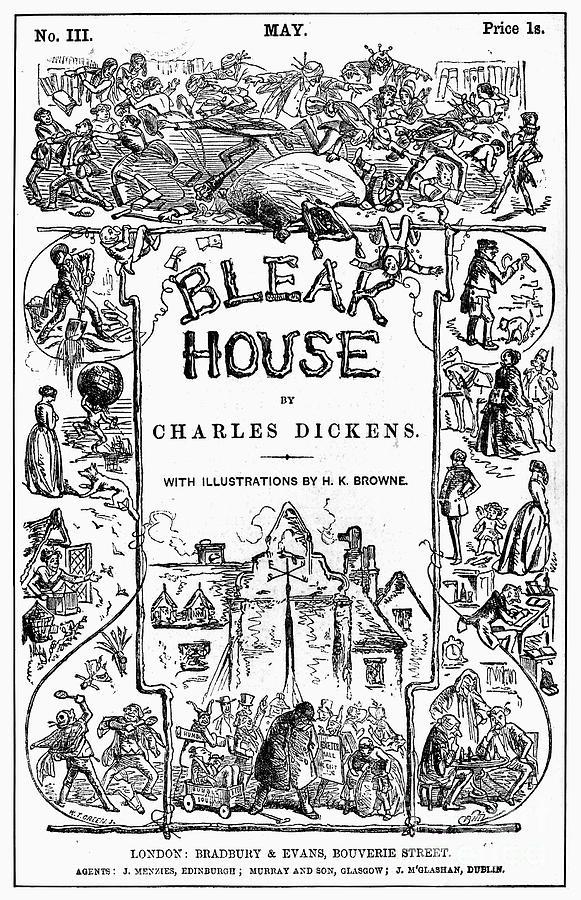 1852 Photograph - Dickens: Bleak House by Granger