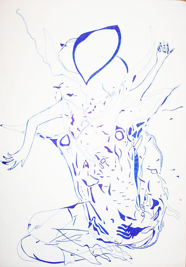 Jesus Drawing - Dinka Dance - South Sudan by Gloria Ssali
