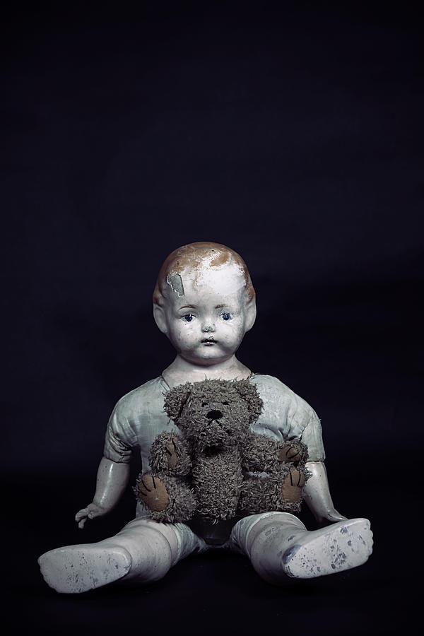 Teddy Photograph - Doll And Bear by Joana Kruse