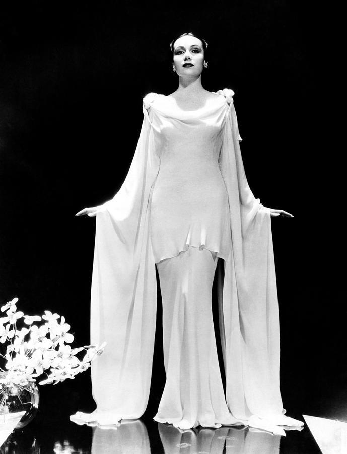 Cowl Neck Photograph - Dolores Del Rio, 1935 by Everett