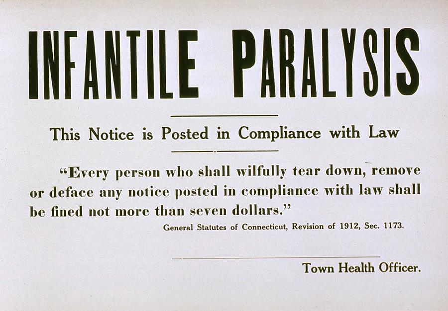 History Photograph - Early 20th Century Quarantine Sign by Everett