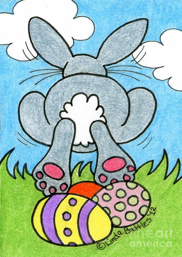 Easter Bunny Mixed Media - Easter Bunny Retreat by Linda Battles