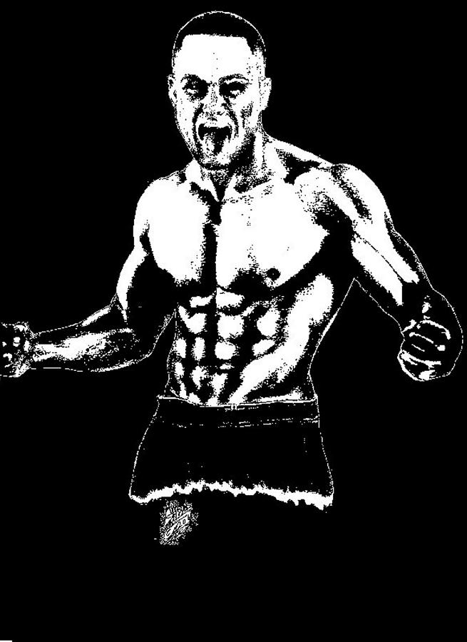 Eddie Alvarez Drawing - Eddie Alvarez by Audrey Snead
