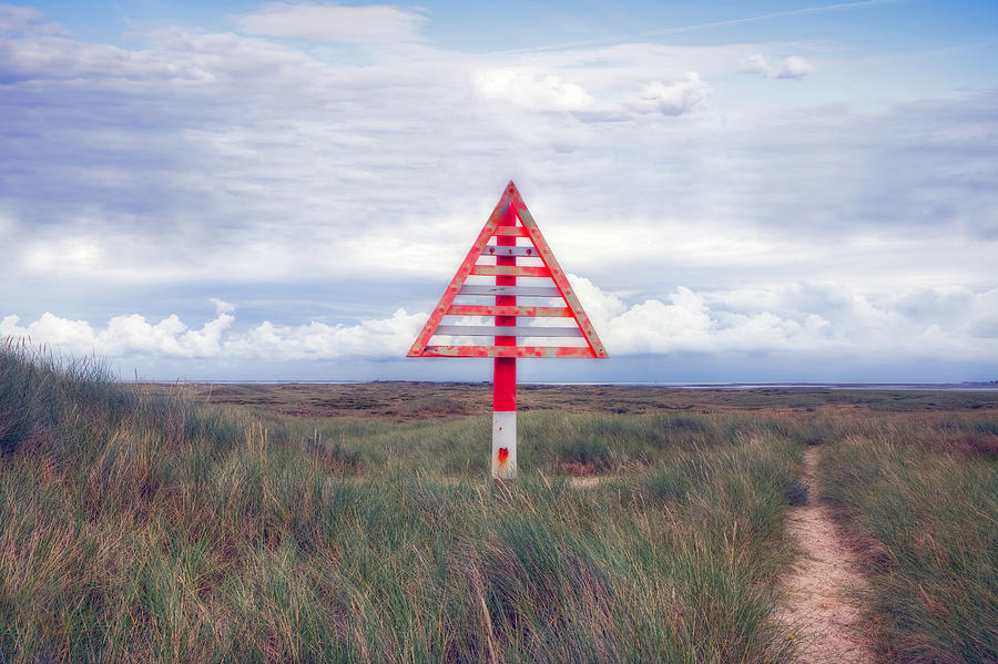 Warning Sign Photograph - elbow - Sylt by Joana Kruse