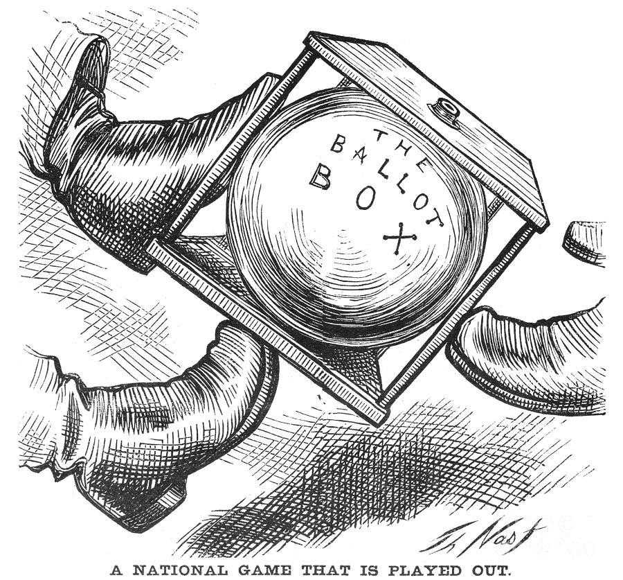 1876 Photograph - Election Cartoon, 1876 by Granger