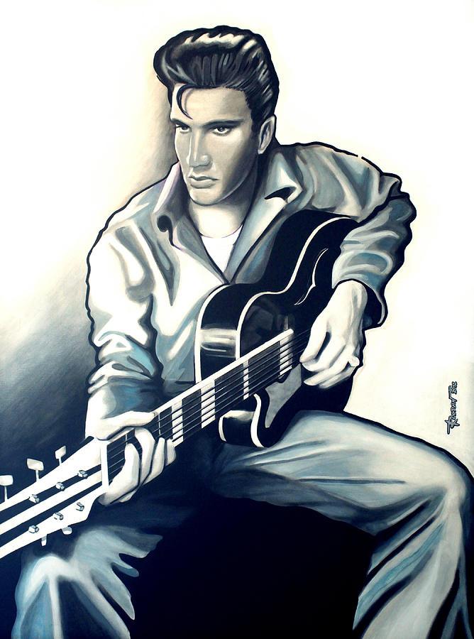 Elvis Drawing - Elvis by Jose Roldan Rendon