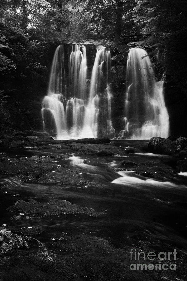 Ess Photograph - Ess-na-crub Waterfall On The Inver River In Glenariff Forest Park County Antrim Northern Ireland Uk by Joe Fox