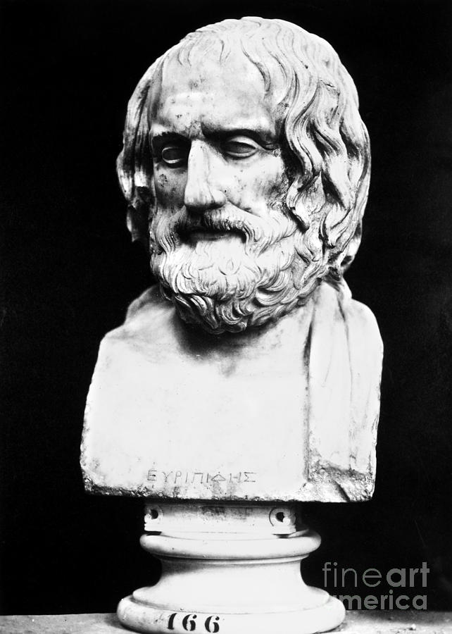 Ancient Photograph - Euripides by Granger