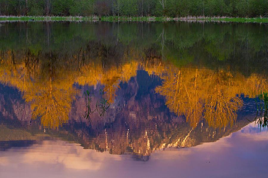Reflections Photograph - Fall Reflections by Manju Shekhar