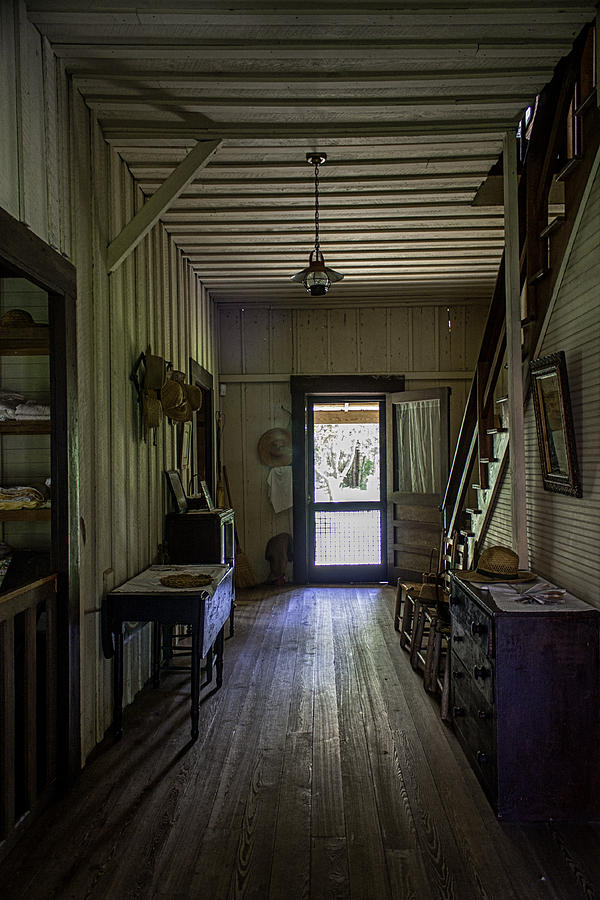 Flight Of Stairs Photograph - Farmhouse Entry Hall And Stairs by Lynn Palmer