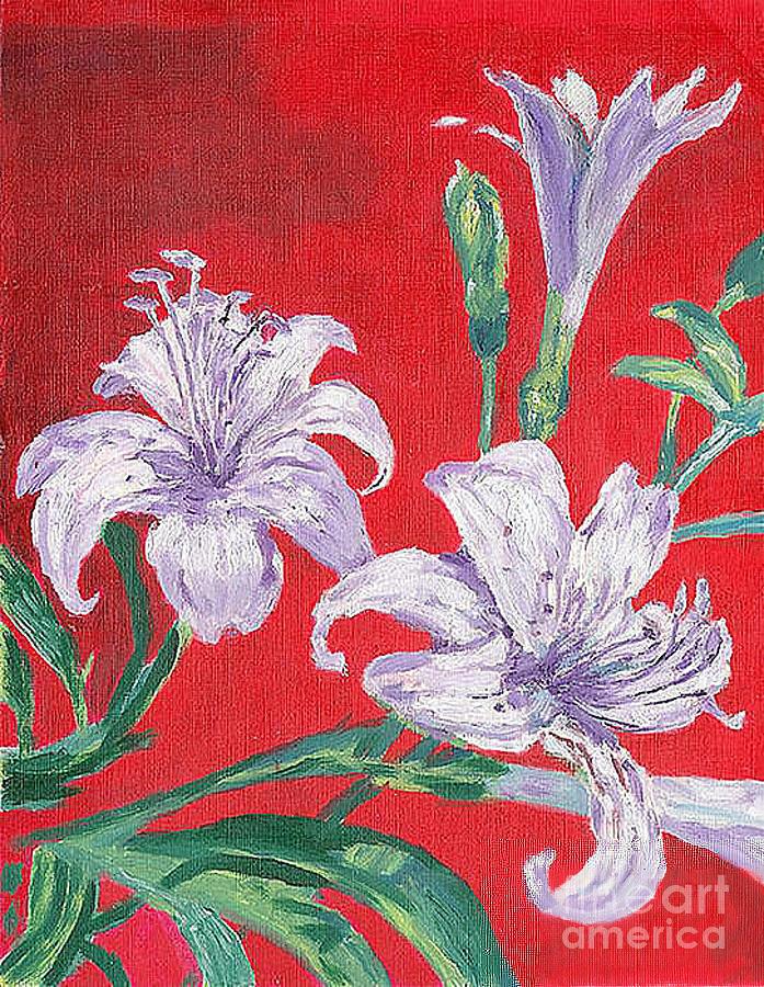 Flowers Painting - Flowers by Kostas Dendrinos
