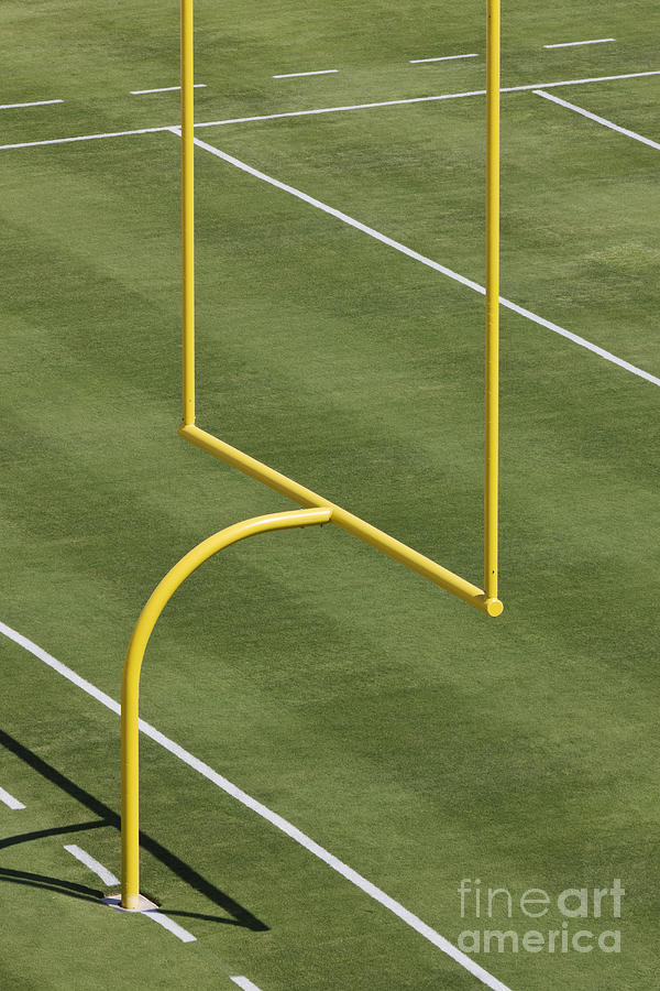 End Zone Photograph - Football Goal Post by Jeremy Woodhouse