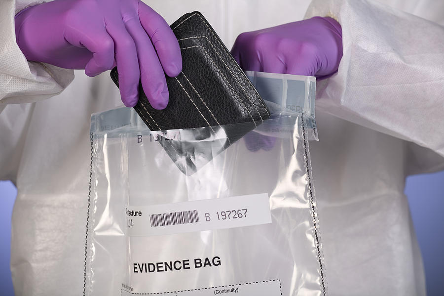 Wallet Photograph - Forensic Evidence by Paul Rapson