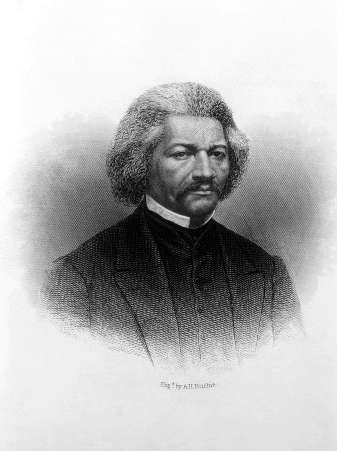 Abolitionist Photograph - Frederick Douglass Ca 1817-1895 by Everett