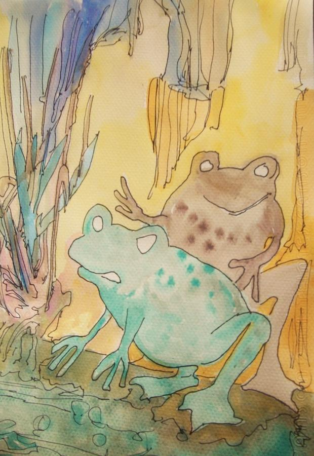 Frogs Painting - 2 Frogs by James Christiansen