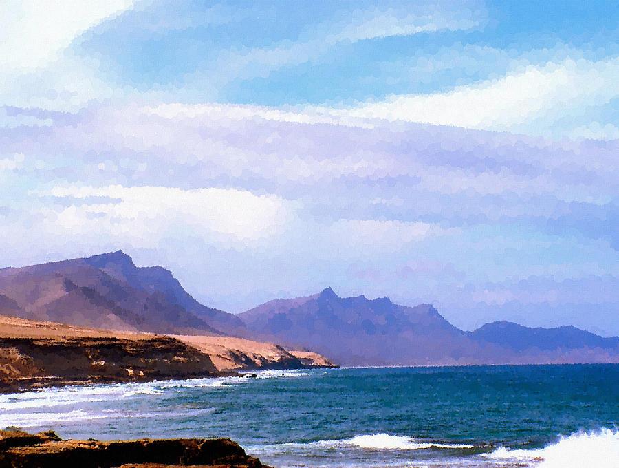 Fuerteventura Digital Art - Fuerteventura by Design Windmill