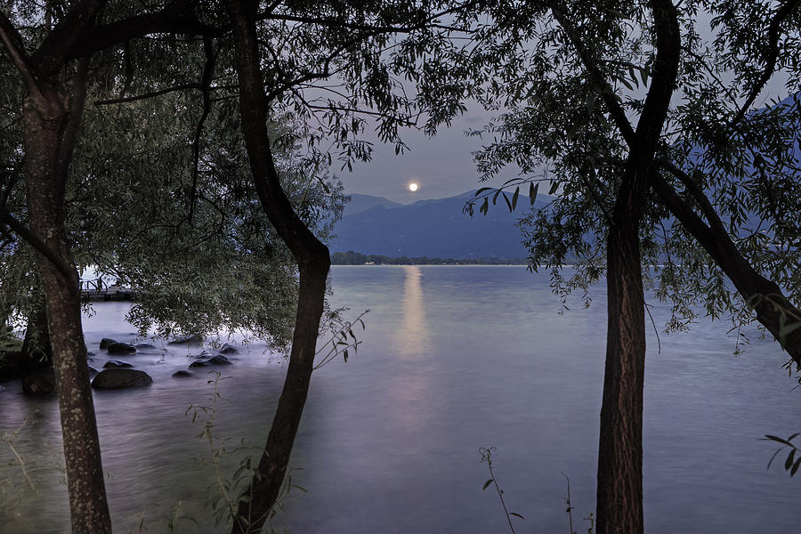 Lake Maggiore Photograph - Full Moon by Joana Kruse