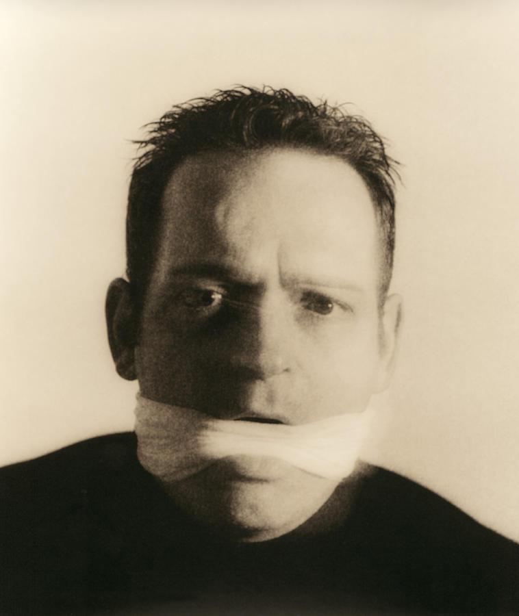 Man Photograph - Gagged Man by Cristina Pedrazzini
