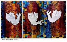 Paintings Painting - Ganesha by Keshaw Kumar