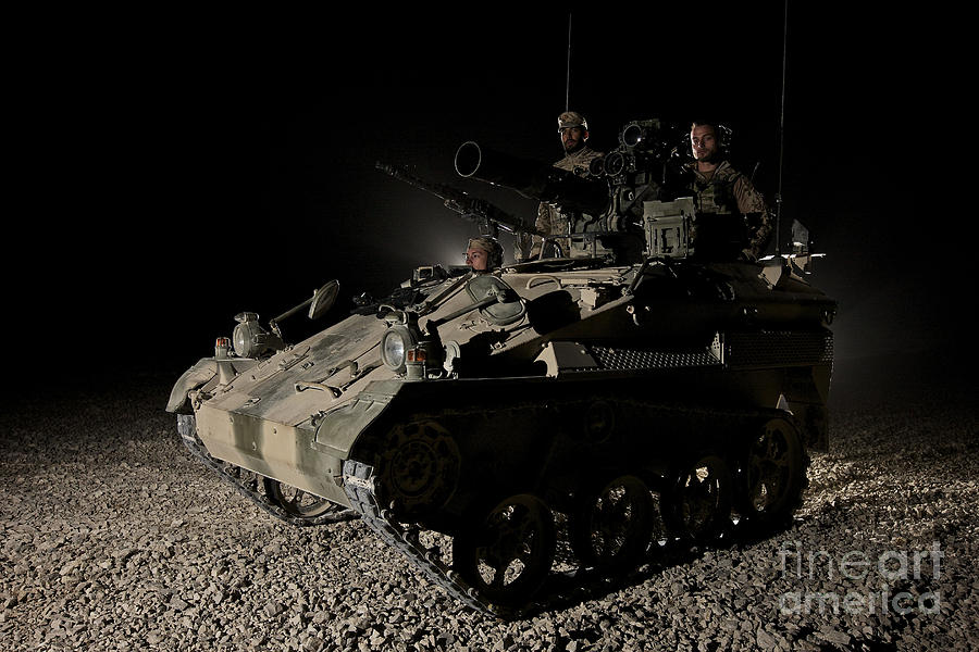 Vehicle Photograph - German Army Crew In A Wiesel 1 Atm Tow by Terry Moore