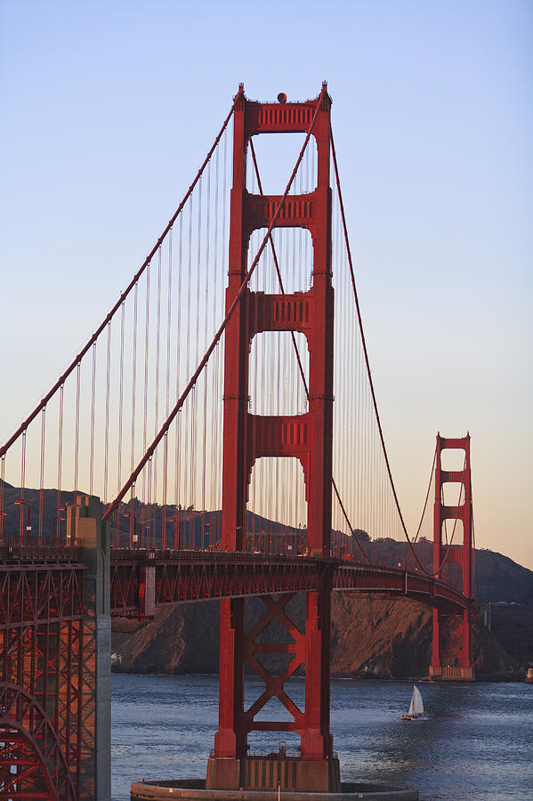 Blue Sky Photograph - Golden Gate Bridge San Francisco by Stuart Westmorland