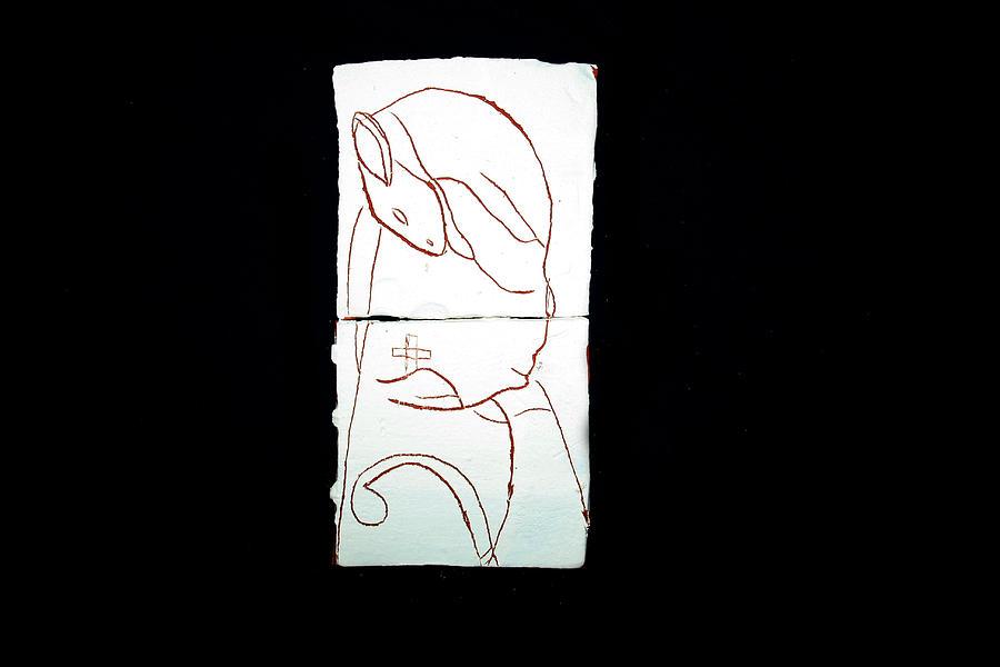 Jesus Ceramic Art - Good Shepherd by Gloria Ssali