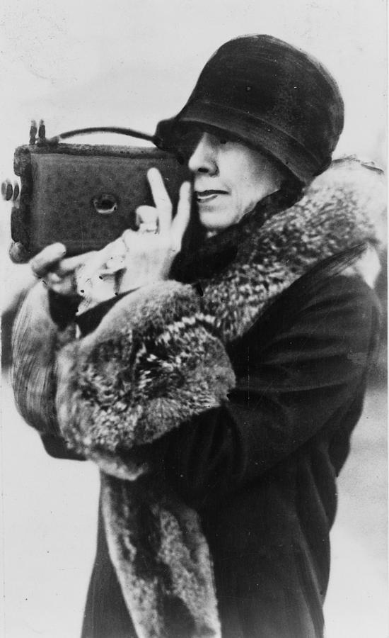 1920s Candid Photograph - Grace Coolidge 1879-1957, First Lady by Everett