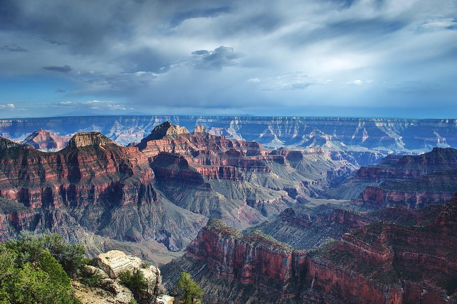 America Photograph - Grand Canyon North Rim After A Storm by C Thomas Willard
