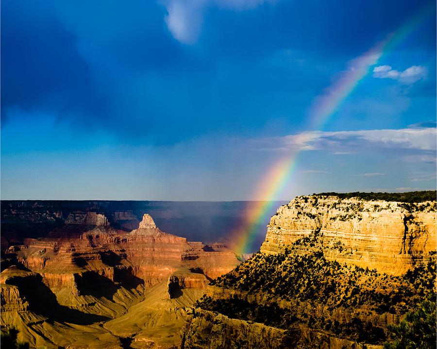 Grand Canyon Rainbow Photograph By Ernest Hamilton