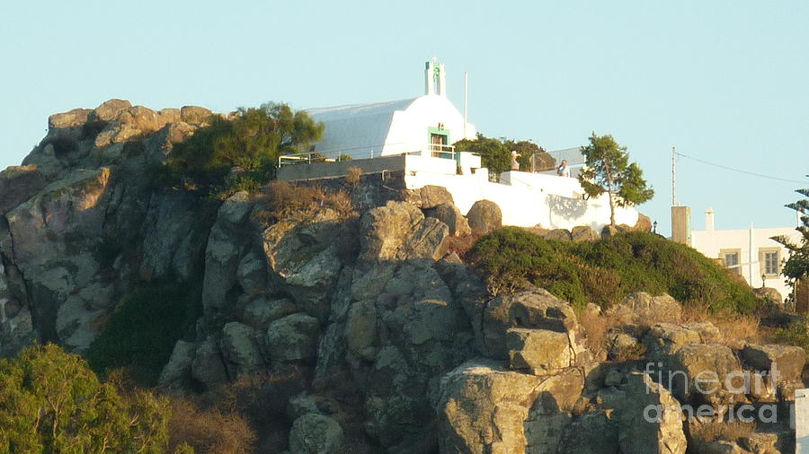Church Photograph - Greek Church by Therese Alcorn