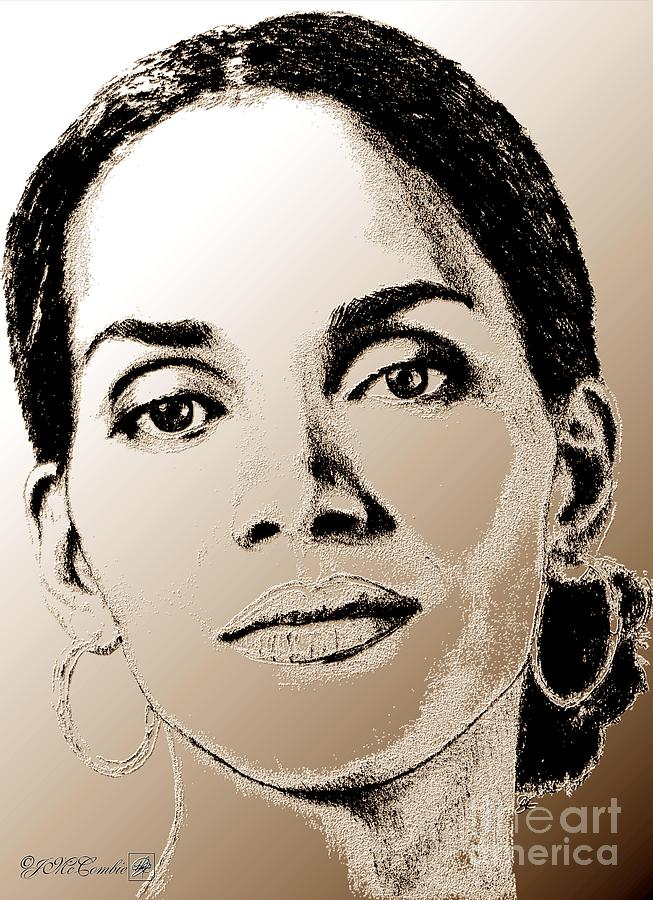 Halle Berry Digital Art - Halle Berry In 2008 by J McCombie