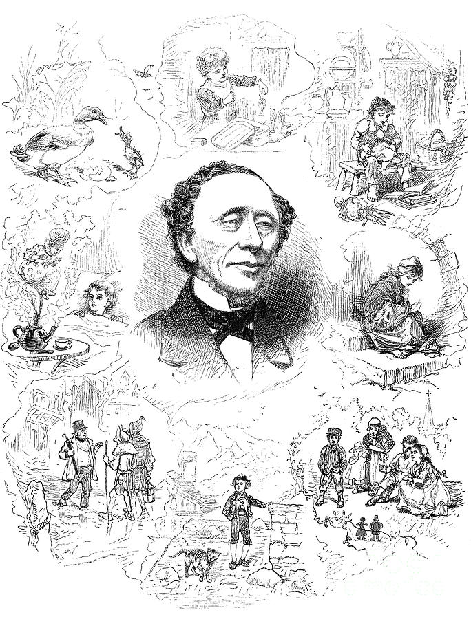 Hans Christian Andersen Photograph by Granger