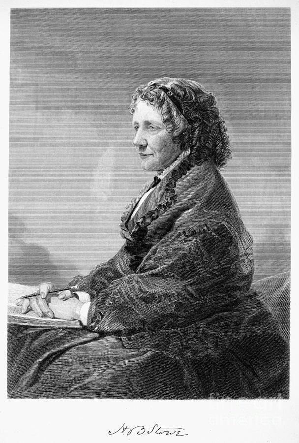 1872 Photograph - Harriet Beecher Stowe by Granger