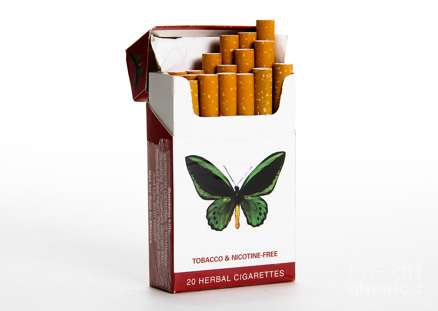 Herbal Cigarettes Photograph By Photo Researchers
