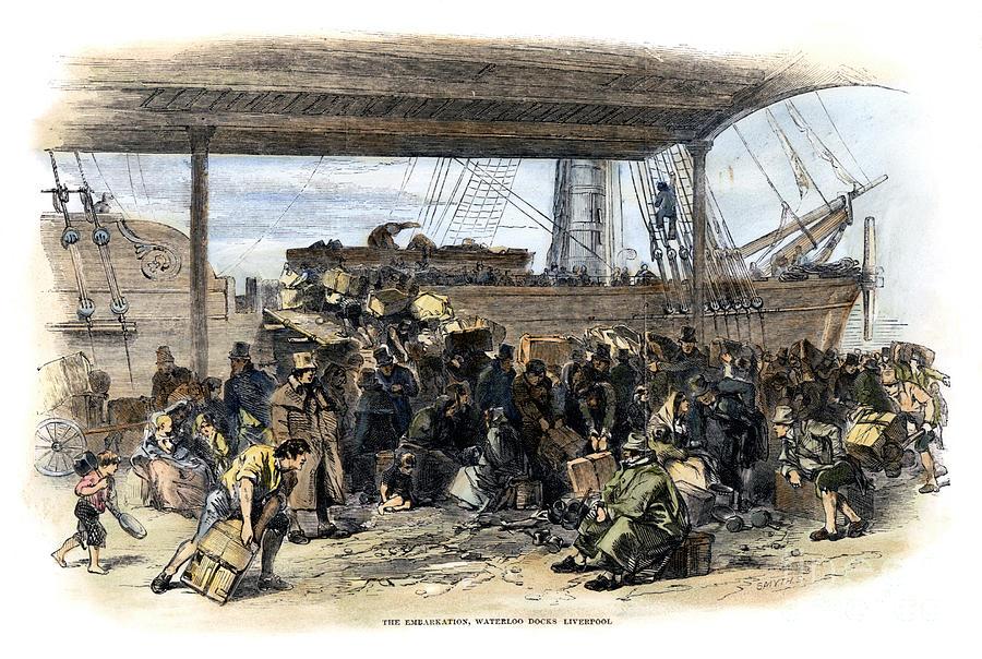 Irish Immigrants, 1850 Photograph by Granger