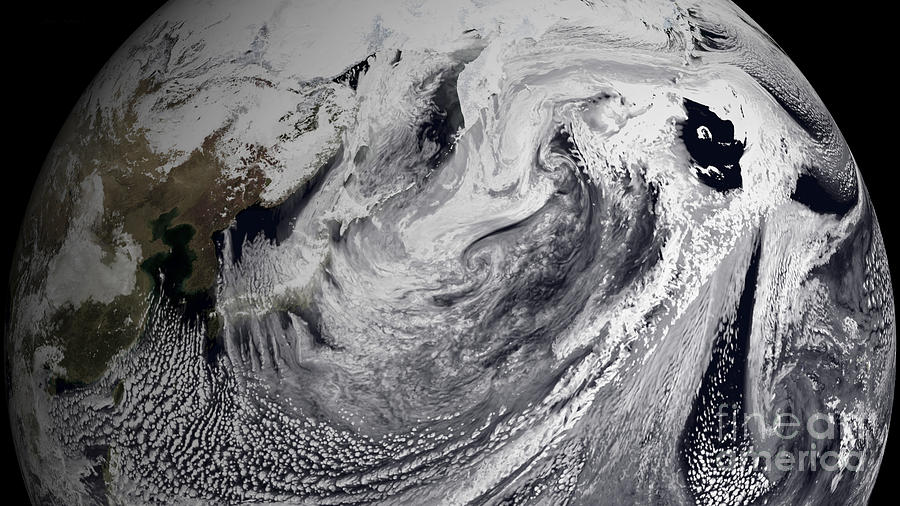 Weather Photograph - January 2, 2009 - Cloud Simulation by Stocktrek Images