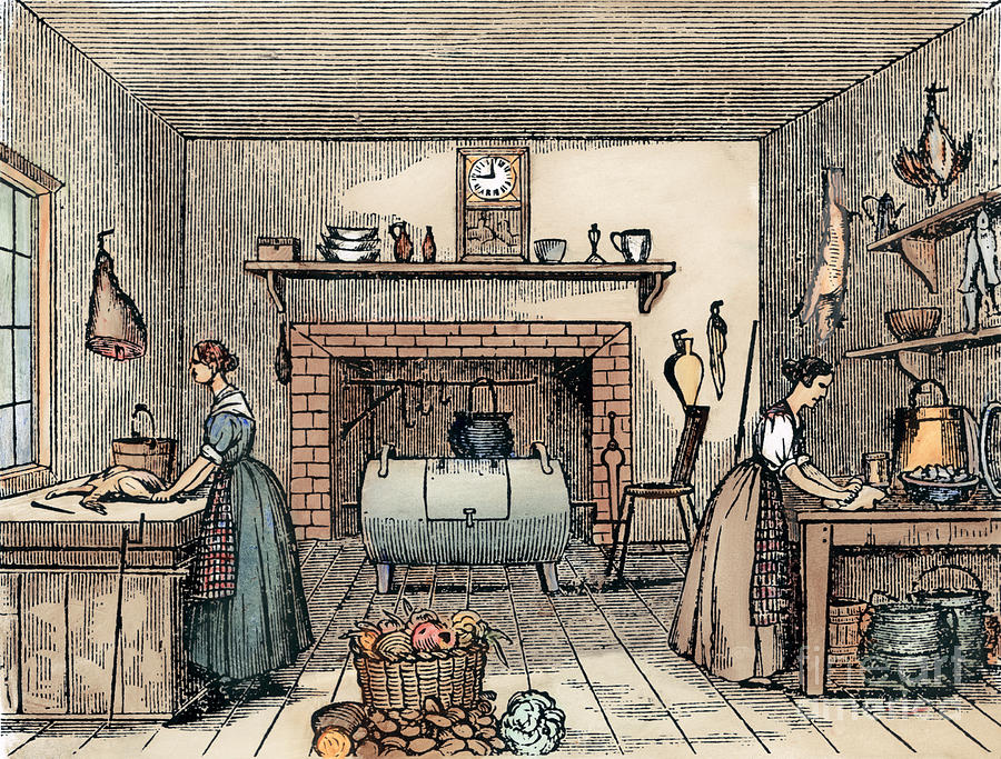 Kitchen 19th Century Photograph By Granger
