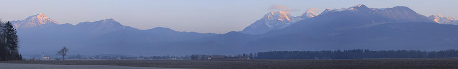 Krvavec And The Kamnik Alps At Dawn. Photograph