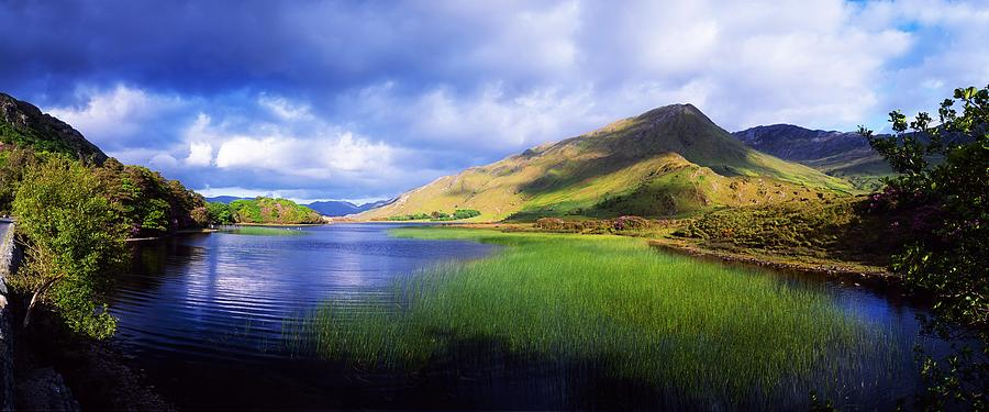 Co Galway Photograph - Kylemore Lake, Co Galway, Ireland Lake by The Irish Image Collection