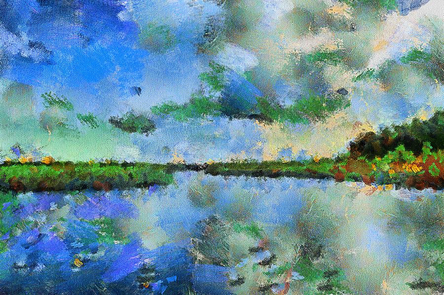 Summer Digital Art - Lake View by Yury Malkov