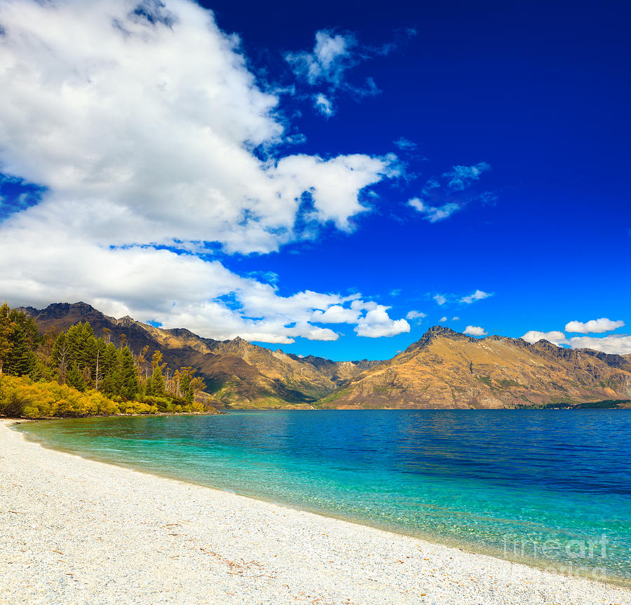 Landscape Photograph - Lake Wakatipu by MotHaiBaPhoto Prints
