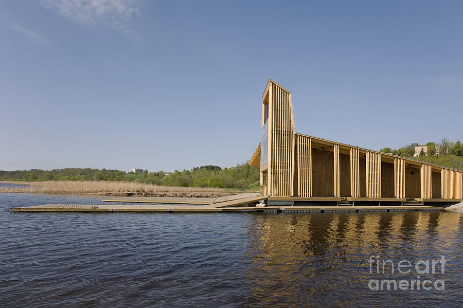 Architectural Photograph - Lakeside Building And Dock by Jaak Nilson