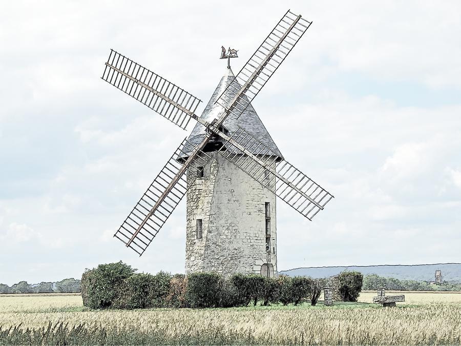 Europe Photograph - Largny Mill Largny Sur Automne France by Joseph Hendrix
