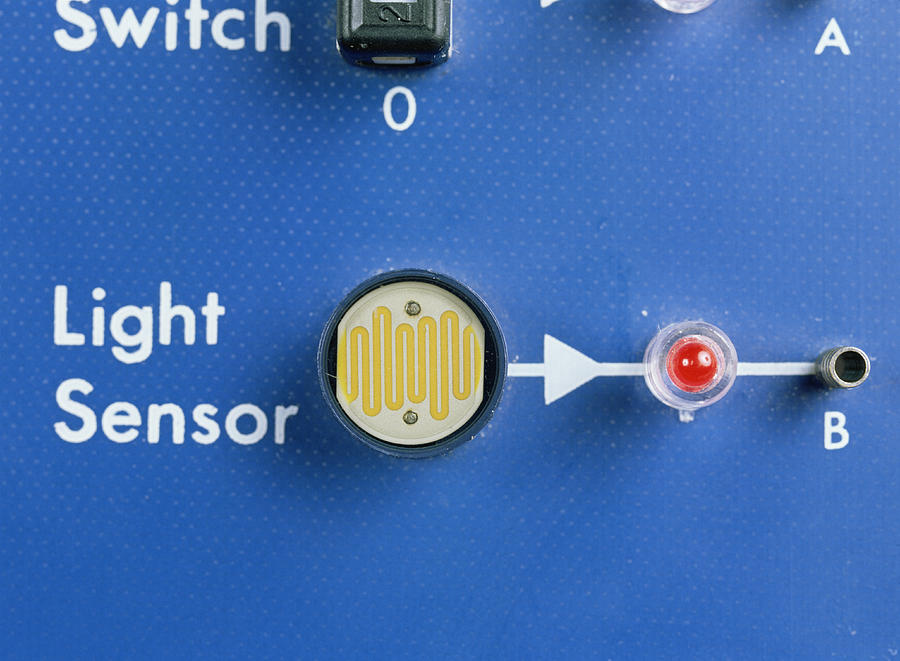 Circuit Photograph - Light Dependent Resistor by Andrew Lambert Photography